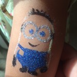Minion Glitter Tattoo